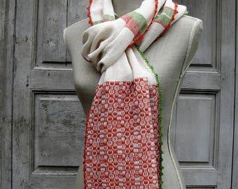 Echarpe, tissage artisanal, biologique, certifié GOTS