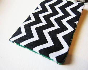 Black White chevron cotton wallet