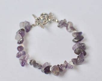Amethyst Bracelet, February Birthstone, Gemstone Bracelet, Amethyst Jewelry, Purple Bracelet, Mothers Day Gift, Gift for Her,Bridesmaid Gift