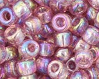 TOHO Seed Beads 6/0 Transparent Rainbow Light Amethyst 15 grams