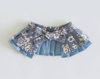 Oh! Cape / Blue Floral Prints