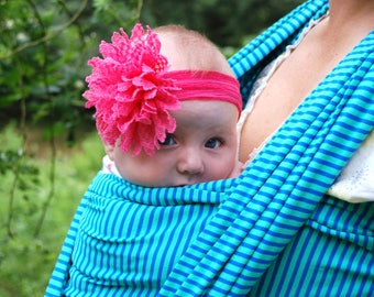 Baby Wrap Carrier / Jersey baby wrap / Baby Sling wrap / Baby Carrier Sling / Moby Sling / Blue sling / Affordalble Baby Wrap