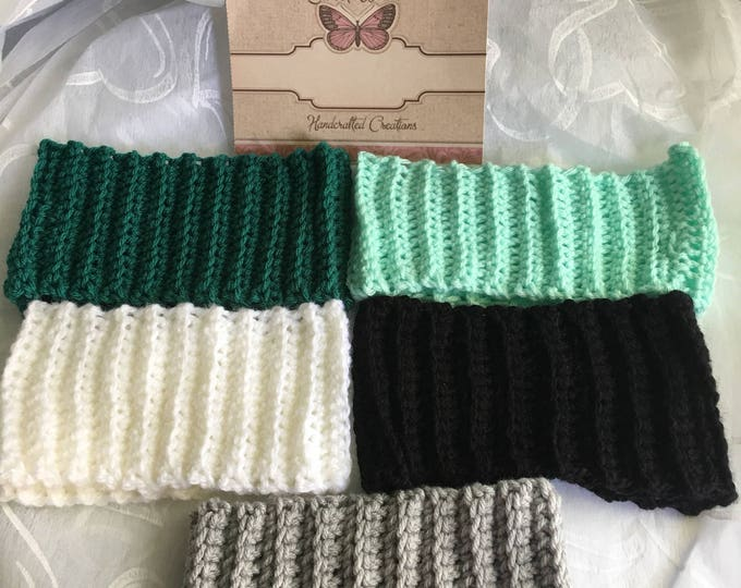 Ribbed Headbands-Earwarmers-Holiday accessories -READY TO SHIP-Crocheted Hats