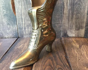 Fireplace Brass Boot Match Holder
