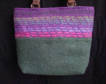 Felted Hand-knit Wool Purse