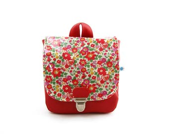 Backpack native red liberty for girl