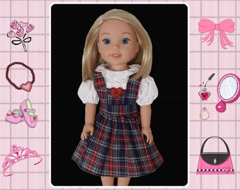 14 / 14.5 inch doll clothes / 14 in doll dress / Mine to Love 14 / Wellie Wishers / Melissa and Doug / American Girl