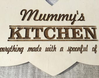Laser cut wooden decorative plaque for Mother's Day - mum, mummy, nana gift