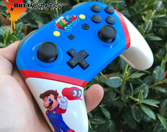 Custom Super Mario Odyssey Themed Nintendo Switch Pro Controller