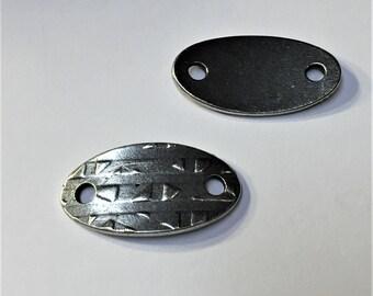 SALE: Antique Silver TierraCast R&R Oval Link, Tierra Cast finding