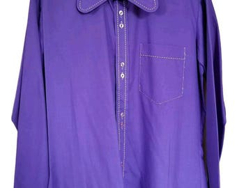 Vintage Mens 1960S Lord Anthony Penny Collar Shirt S
