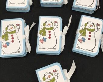 Snowman Tic Tac Boxes