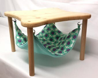 "hammock holder with 1 hammock ""retro flowers"" for guinea pigs and hedgehogs"