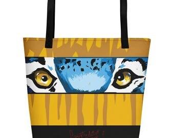 Tiger Eyes Beach Bag