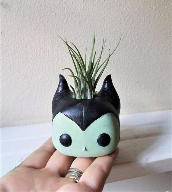 Maleficent inspired planter, Maleficent gift,  air plant holder, geeky gift, air plant gift set