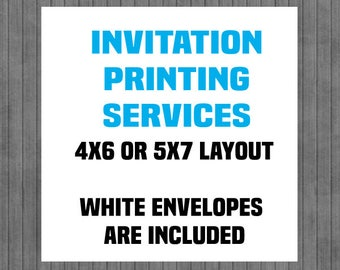Printed Invitations, Printing Service, Invitation Printing