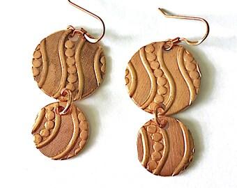 Walk Along the River Earrings Tsalagi Cherokee Made