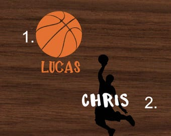 Personalized Basketball with Name Decal | Basketball Themed Yeti Decal | Basketball Themed RTIC Decal | Basketball Themed Car Decal