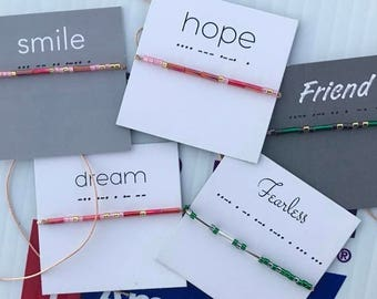 Wish Bracelets - Smile, Hope, Dream, Fearless, Strength, Friend