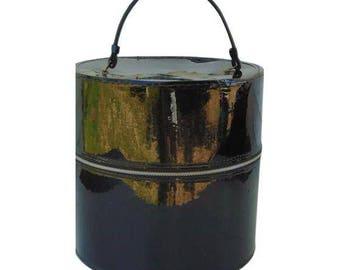Black Hat Box, Hat Box, Wig Box, Black Suitcase, Hat Box For Travel, Hat Box Wedding, Vintage Suitcase Large, Round Hat Box, Train Case, 60s