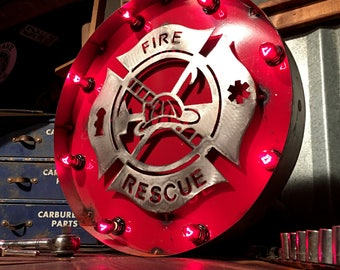 Fire and Rescue Marquee Sign