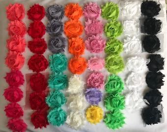 "Shabby Flowers, 2"", Chiffon"