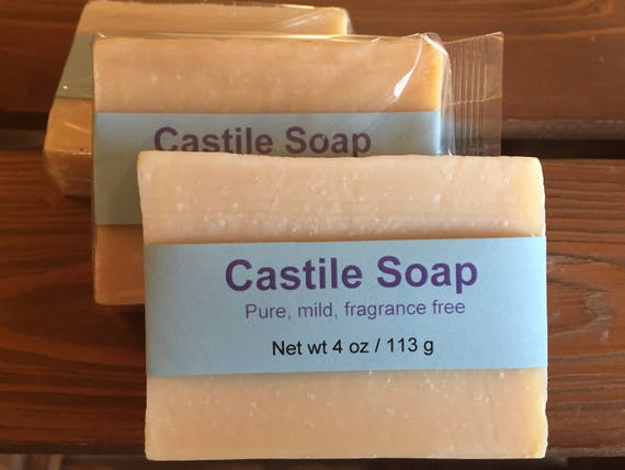 Mild and Gentle Castile Cold Process Soap, Unscented