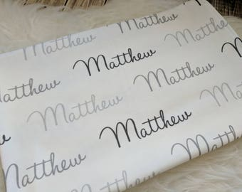 Personalized baby swaddle blanket: baby and toddler personalized name newborn hospital gift baby shower gift