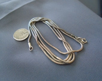 """Serpentine Chain 2mm Sterling Silver Necklace 31.25"""""""