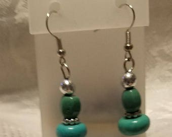 Turquoise and silver earings
