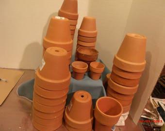 Mini and Small Teracotta  Pots