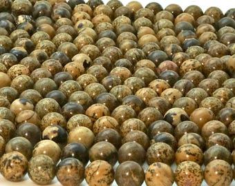 Crazy Horse Jasper, 8mm beads, all natural, mala beads