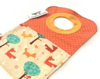 Woodland Baby Bib - Pullover Bib - Gender Neutral Baby - Toddler Bibs - Fox Baby Boy - Baby Boy Bibs - Baby Bibs - Towel Bibs - #182