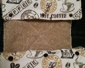 Coffee Time-Reusable Eco friendly Unpaper Towels