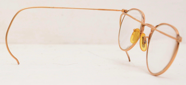 Antique Eyeglasses 12KGF Gold Frames w/ Hard Case; Fulvue; American ...