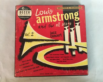 Louis Armstrong and the All Stars Jazz Concert Volume 2 - 1950 Decca Records 45 RPM box set - 4 Records in set