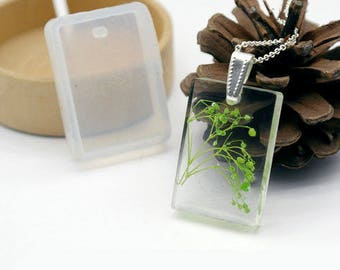 Mold Silicone pendant 20x30mm rectangle, ideal for resin - mylittlebird