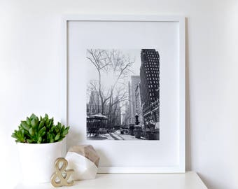 Bryant Park, New York City {8x10 Black and White/Sepia Photography Wall Art}