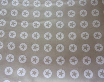 fabric star beige and white 50 * 70 cm