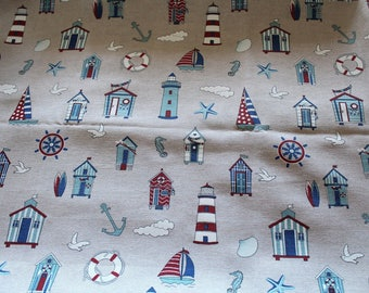 Navy fabric coupon 70 x 50 cm