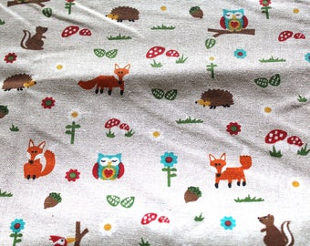 Fabric upholstery animal forest 67 x 50 cm