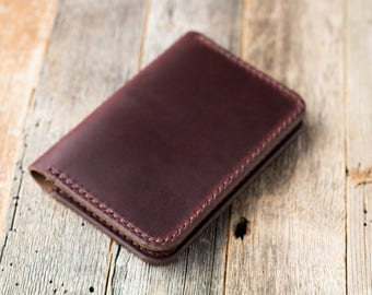 Leather Card Wallet Chromexcel Leather Card Holder Horween Leather Slim Wallet Minimalist Leather Card Case Chromexcel Bifold Mens Gruffwood