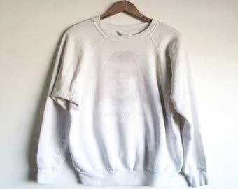LARGE Vintage 1980s Printed Pullover Sweatshirt
