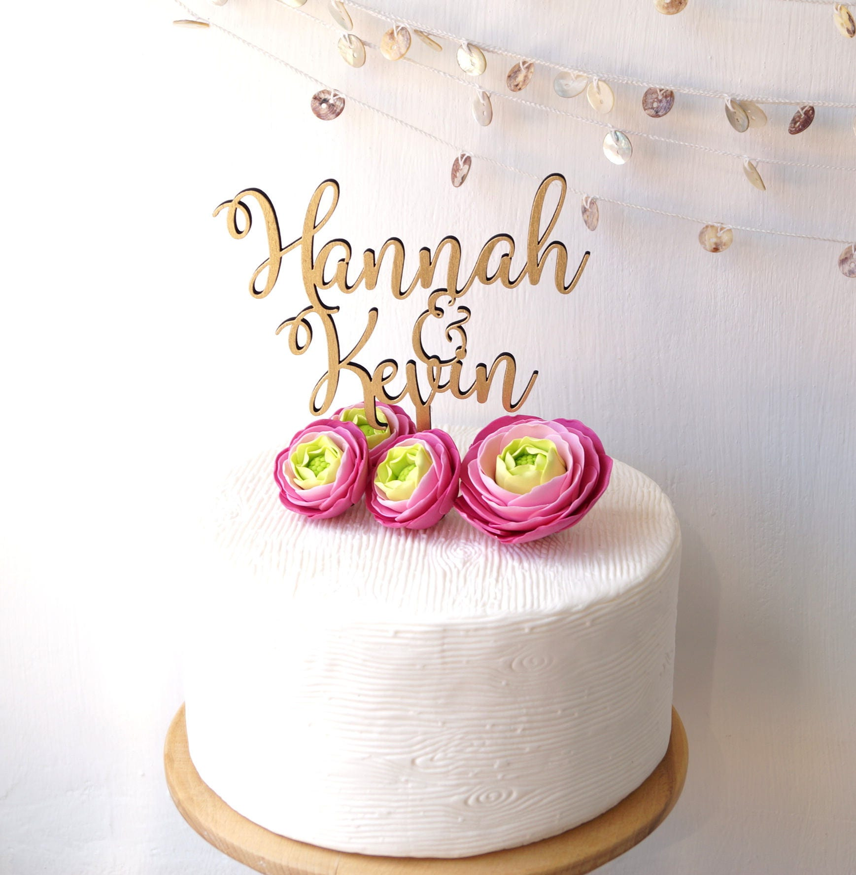 Personalized cake topper, wedding cake topper, rustic wedding cake ...