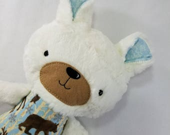 OOAK - Teddy Bear Softie - Ready to Ship