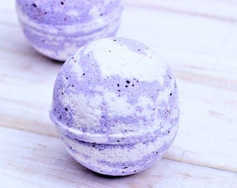 Wild Blackberry Bath Bomb Handmade Artisan Bath Fizzy Clay Homemade Bath Bomb Handcrafted Bath Soak Party Favor Gift for Her Summer Berry