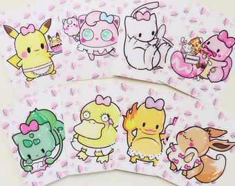 Sharodactyl Pick One: Pretty Poke Mini Prints