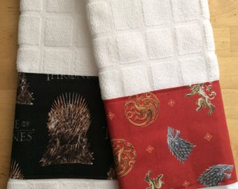 Game of thrones towels, kitchen towels, bar towels, game of thrones fabric