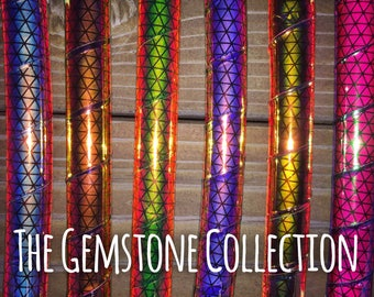 NEW* •High Intensity Reflective Gemstone Collection• Polypro or HDPE Hula Hoop