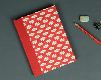 Address book red and white, small address book, telephone book, phone numbers, phone book, address book , red and white with ornamentes